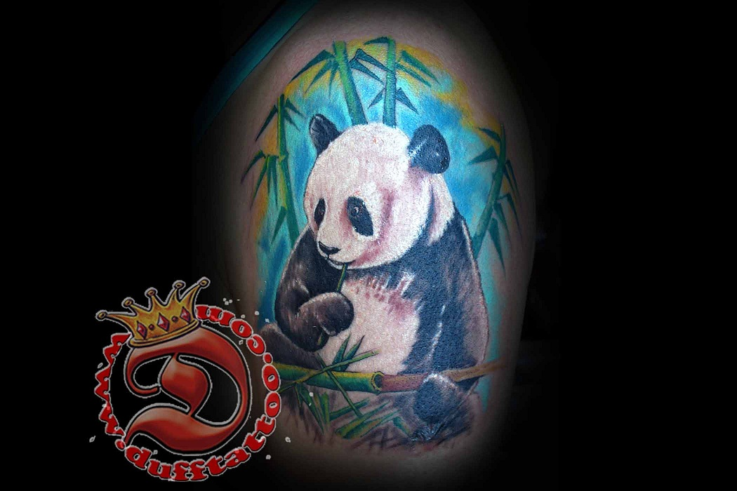 Tattoo by Matt DUFFenbach. The Giant Panda is found only in southwestern