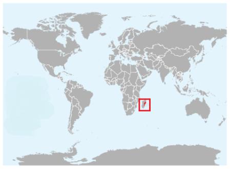 Geographical region of  Aquatic Tenrec